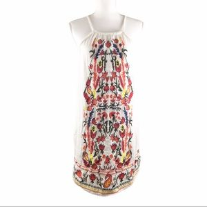 Willow & Clay White Embroidered Sleeveless Dress